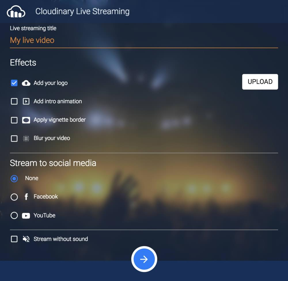 Cloudinary Live Streaming