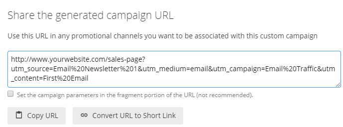 Google UTM link