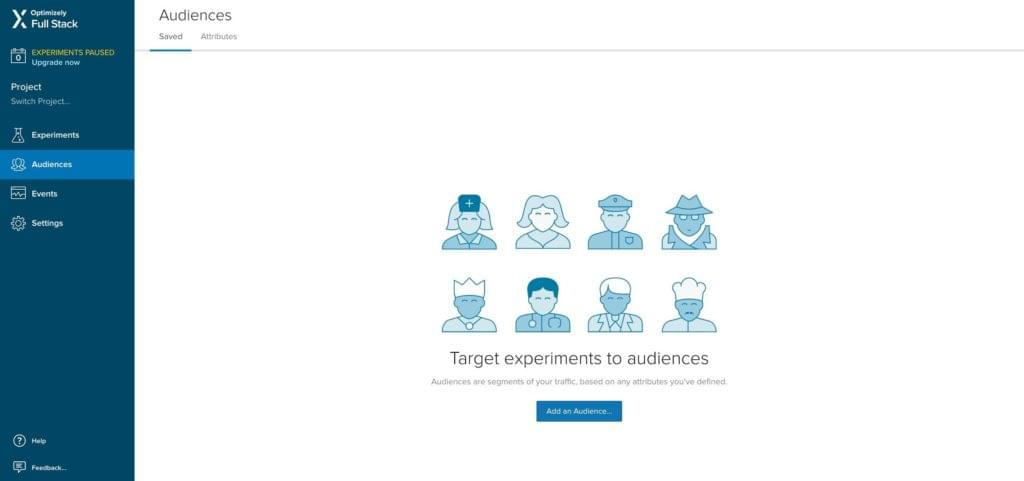 Adding an Audience in Optimizely