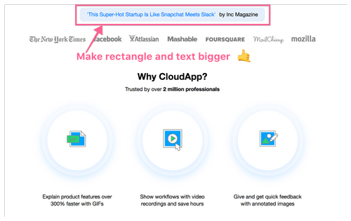CloudApp: Editing and annotating