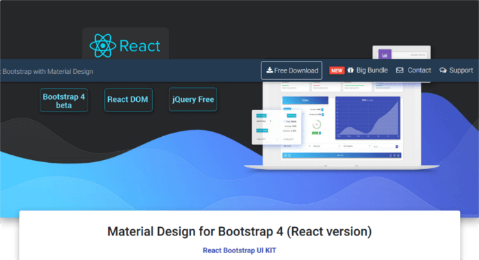 Material Design for Bootstrap (React version)