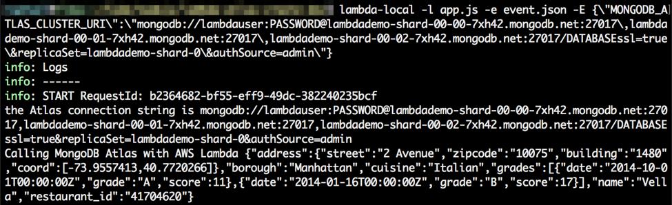 Serverless development with Node js, AWS Lambda and MongoDB