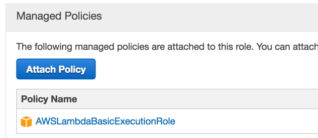 AWS Lambda Basic Execution Role