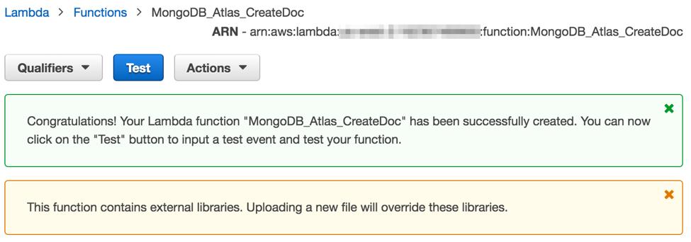 Serverless development with Node js, AWS Lambda and MongoDB Atlas