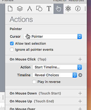Actions Inspector
