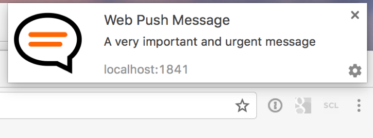 Web Push Message