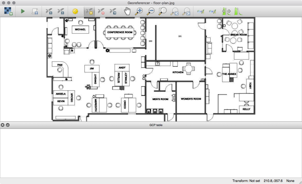 Working with the floor plan