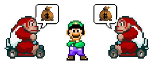 Luigi in debt