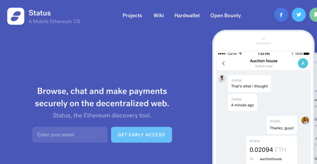 Status, a mobile Ethereum OS