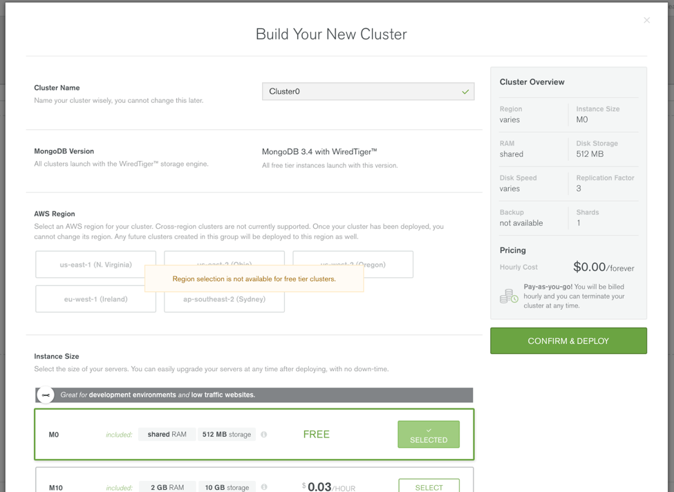 Build your new cluster