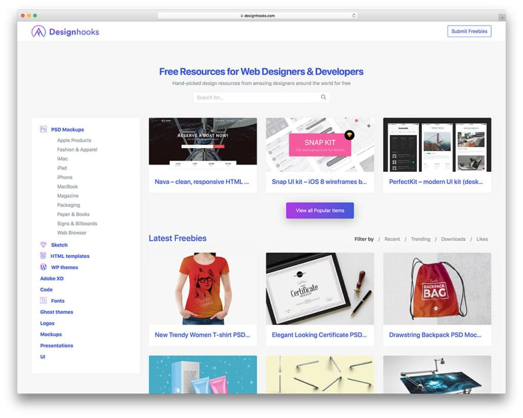 Designhooks — Free Resources for Web Designers & Developers  - 153111370510 - 29 Awesome Tools for Web Designers & Developers — SitePoint