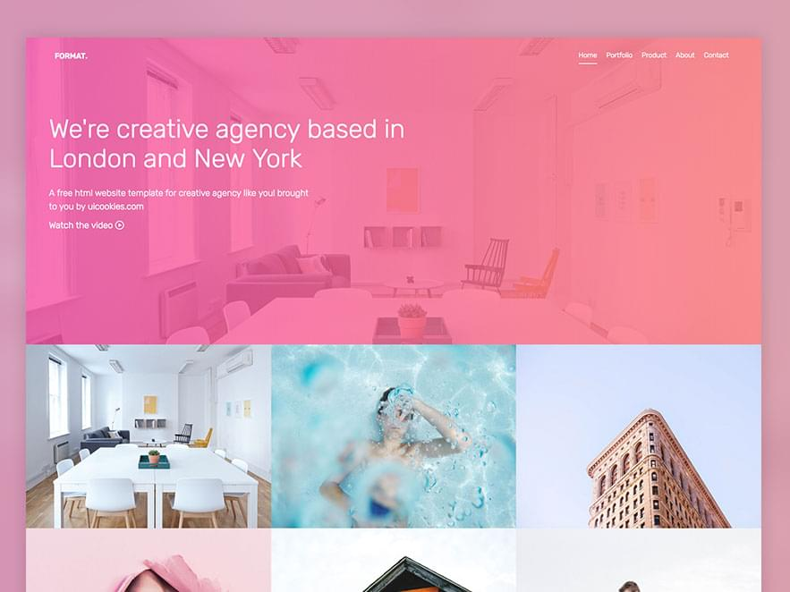 Format – Free Bootstrap Template for Portfolios  - 153111378613 - 29 Awesome Tools for Web Designers & Developers — SitePoint
