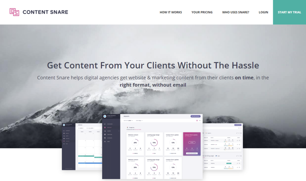 Content Snare — Gather Content from Your Clients  - 153111381514 - 29 Awesome Tools for Web Designers & Developers — SitePoint