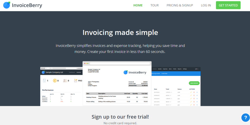 InvoiceBerry  - 153111407724 - 29 Awesome Tools for Web Designers & Developers — SitePoint
