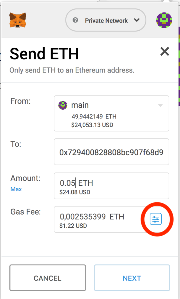 Sending ether to the DAO