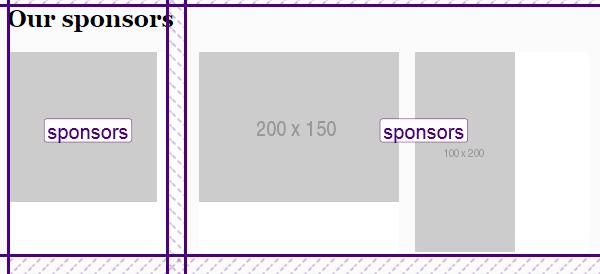 Sponsors section progress