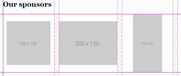 Sponsor layout using flexbox