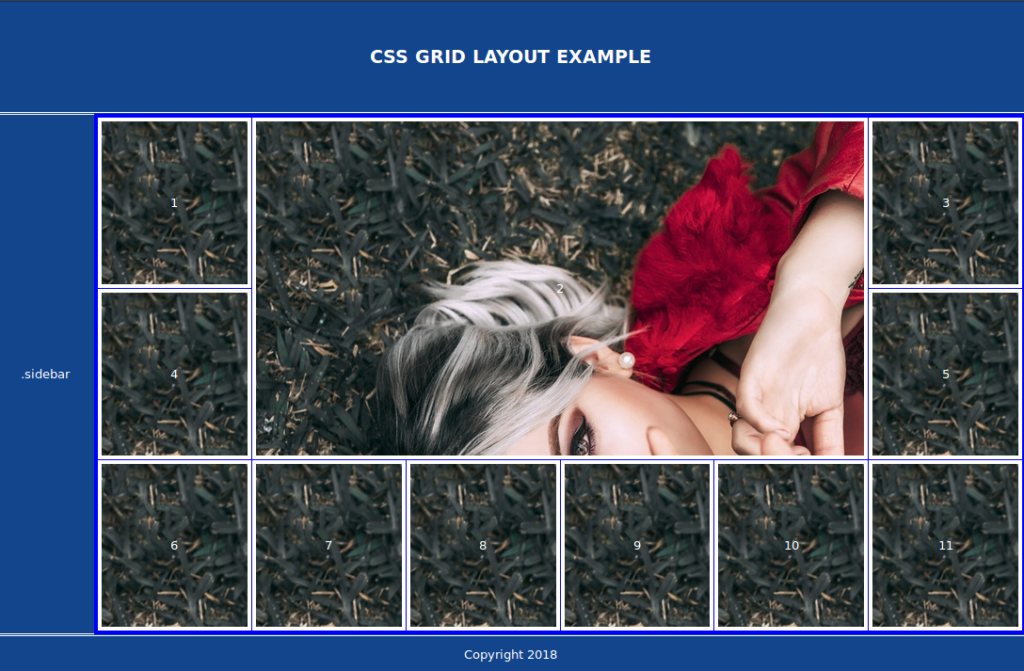 Numbers are now centered horizontally and vertically in each cell  - 1534469985centering 1024x671 - Easy and Responsive Modern CSS Grid Layout — SitePoint