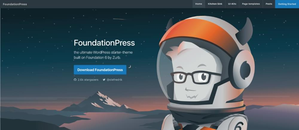 The FoundationPress website