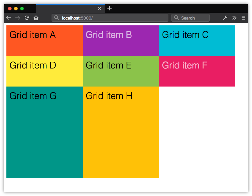 Implicit grid rows expand to fill the available height of the container