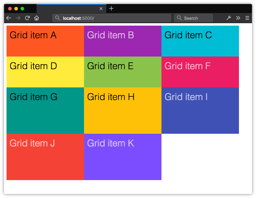 The height of implicit grid rows will be evenly distributed based on the remaining space in the grid container