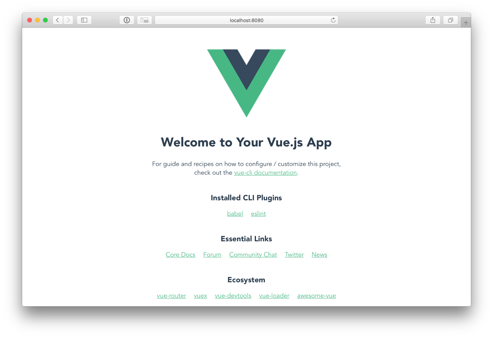 Vue default page  - 1540529713vue default page - Build a Single-Page App with Go and Vue — SitePoint