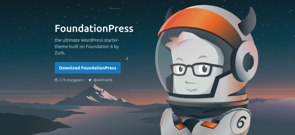 Screenshot of the FoundationPress home page