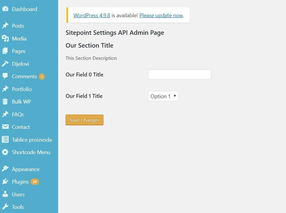 Using the WordPress Settings API to Build a Custom Admin Page