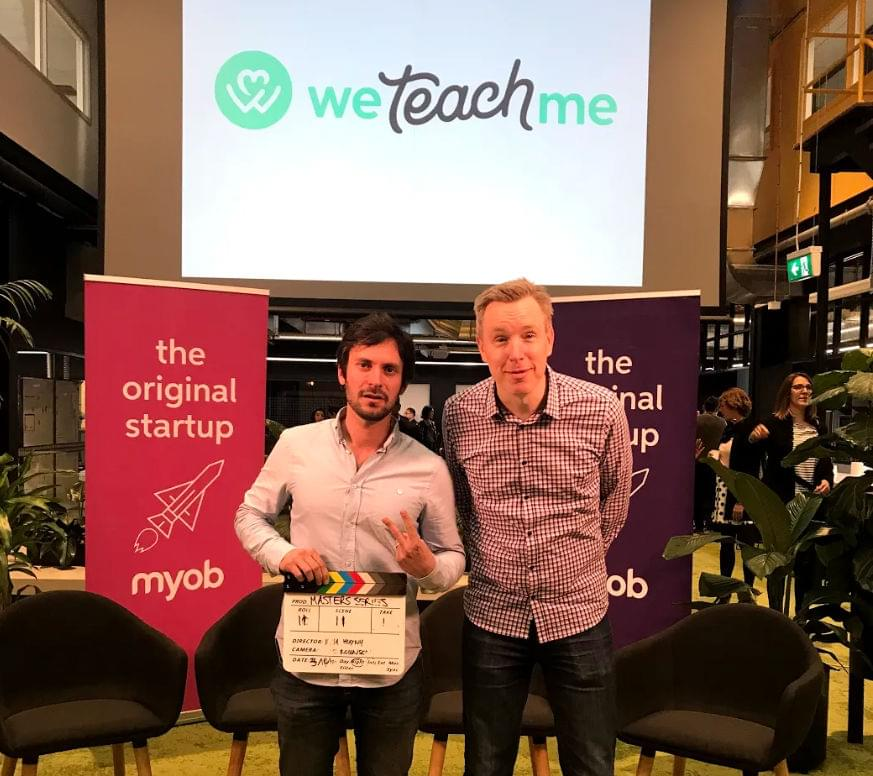 Ben with the WeTeachMe team