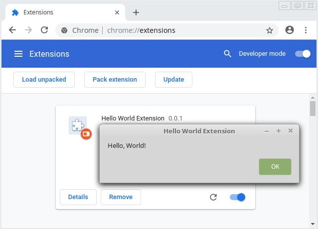 Hello World Extension