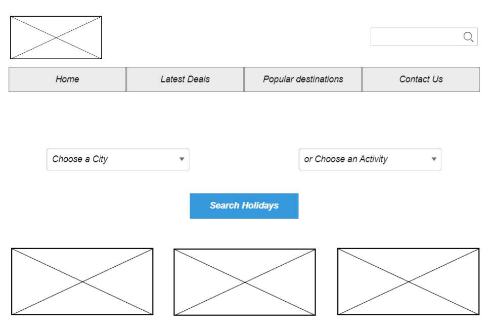 separate dropdowns for chosing a city and choosing an activity