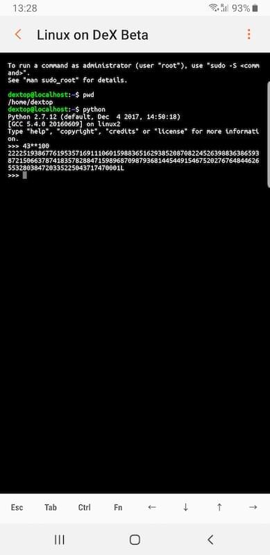 Running Python interpreter on mobile