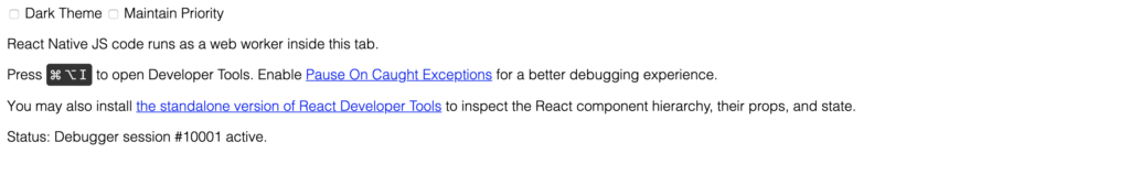 react native debugger