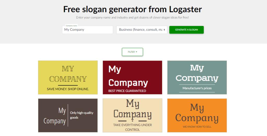 Slogan generator Logaster