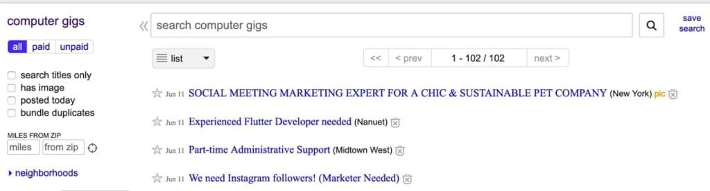 Gigs - Career Transition Into Web Development