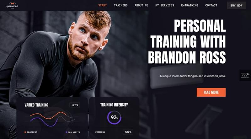 BePersonalTrainer theme