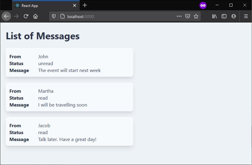 Messages Loop
