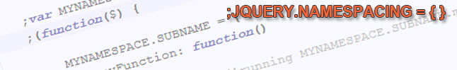 jquery-namespacing
