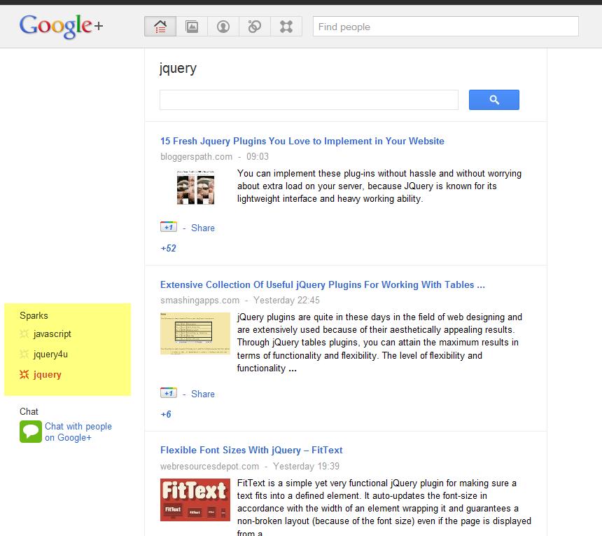 google-plus-jquery-sparks