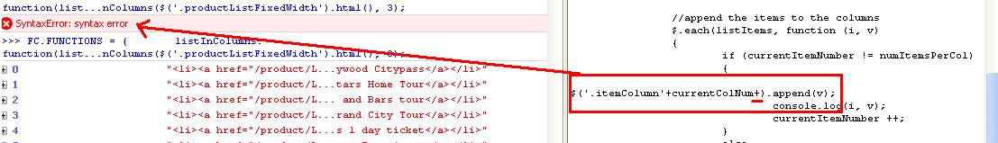 string-error