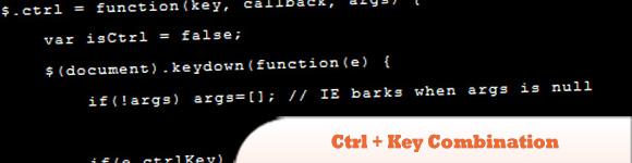 Ctrl + Key Combination