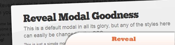 Reveal: jQuery Modals Made Easy