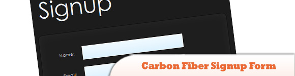 Carbon Fiber Signup Form with PHP, jQuery and CSS3