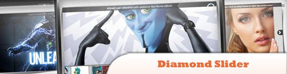 Diamond Slider - Ken Burns Image Slideshow