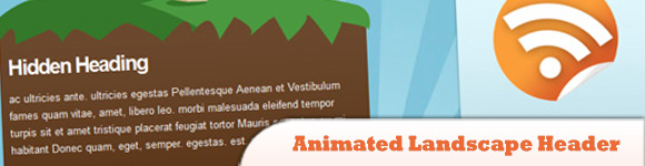 Impressive Animated Landscape Header with jQuery