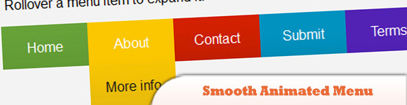 Make a Smooth Animated Menu with jQuery