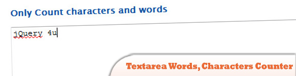Textarea Words, Characters counter, characters limitation plugin