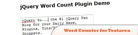 Word Counter for Textarea