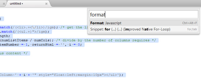 format-function