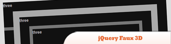 jQuery Faux 3D